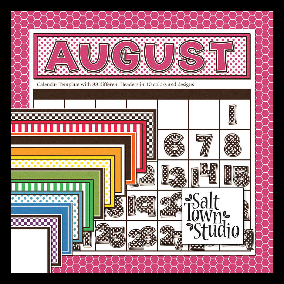Back to Basics Calendar Headers