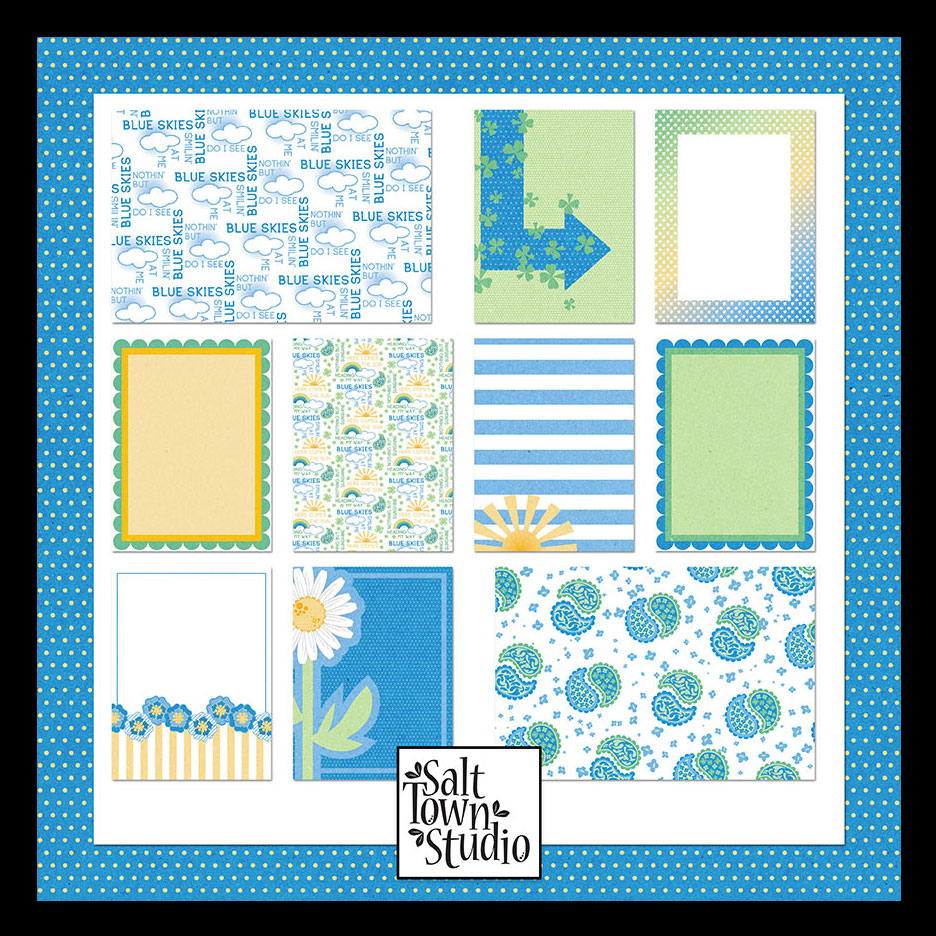 Blue Skies Journal Cards
