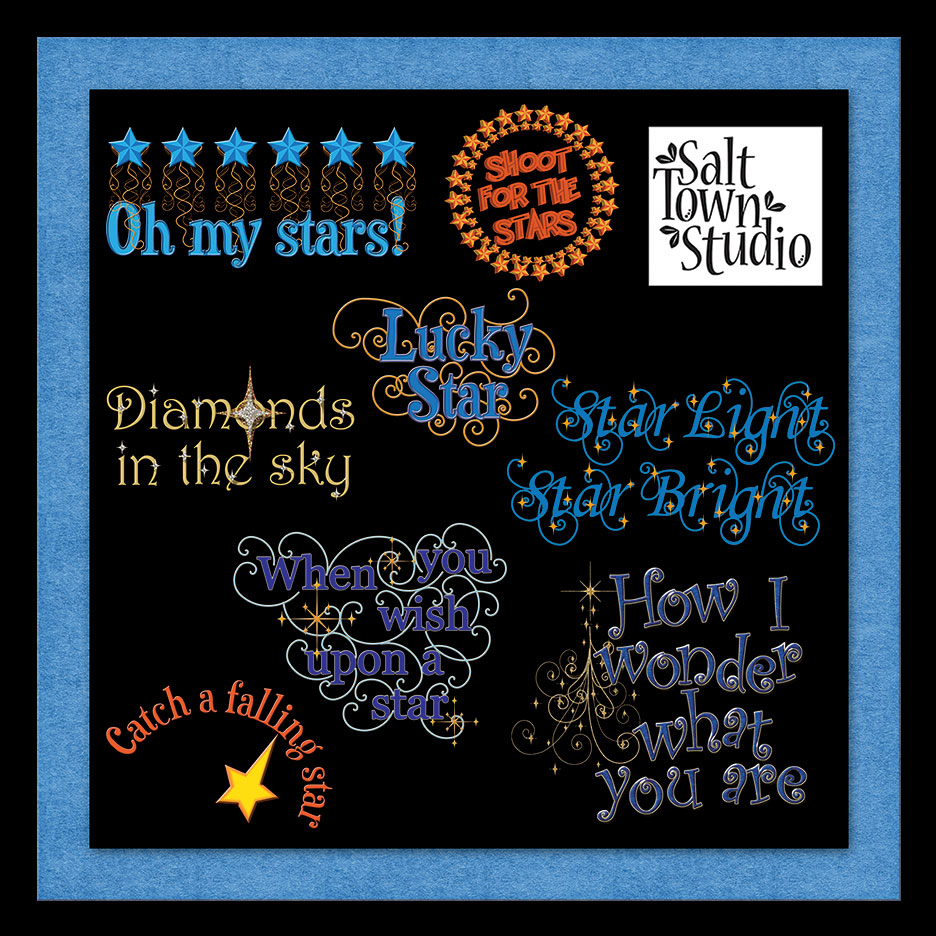 Oh My Stars Word Art